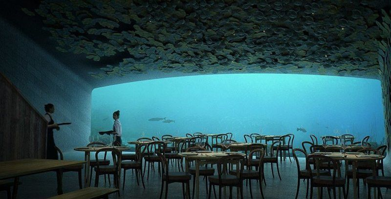 В Норвегії представили проект першого в Європі підводного ресторану - він крутий - фото 347663