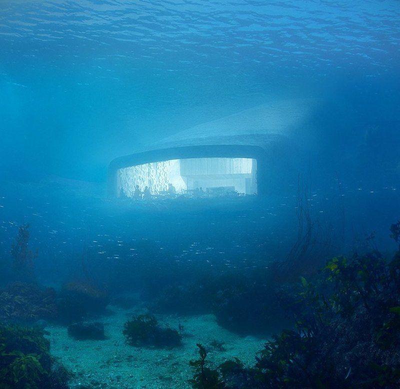 В Норвегії представили проект першого в Європі підводного ресторану - він крутий - фото 347664