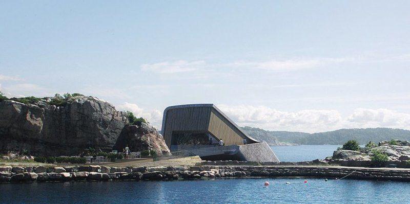 В Норвегії представили проект першого в Європі підводного ресторану - він крутий - фото 347665