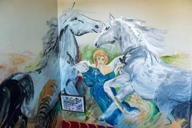 Пенсионерка разрисовала свою квартиру и теперь живет, как в музее - фото 350808
