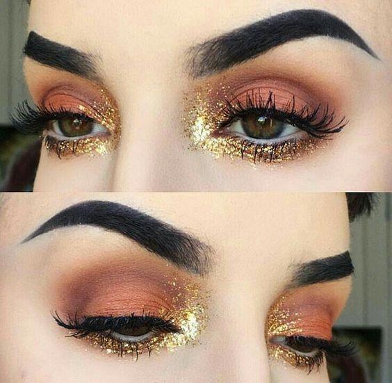 Золотой-тренд: как выглядит самый популярный новогодний макияж - фото 351080