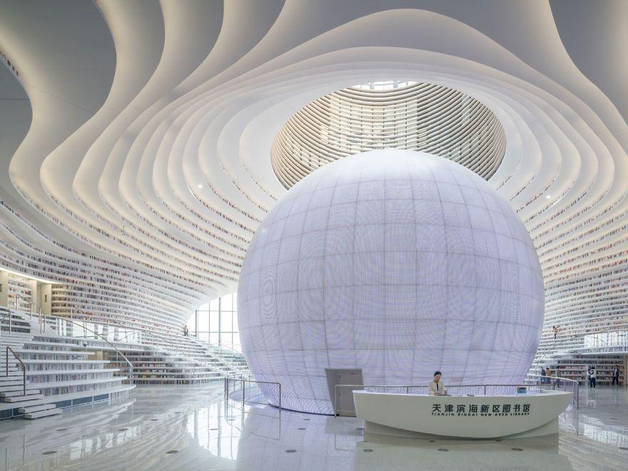 Китайцы открыли библиотеку с 1 миллионом книг и от ее вида перехватывает взгляд дыхание - фото 351012