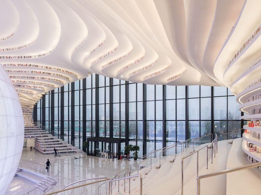 Китайцы открыли библиотеку с 1 миллионом книг и от ее вида перехватывает взгляд дыхание - фото 351014