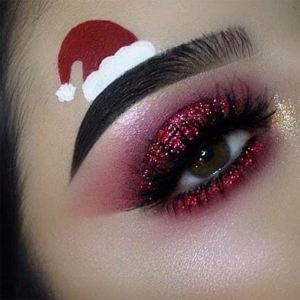 Брови Санты - безумная идея макияжа для любителей праздников - фото 358768