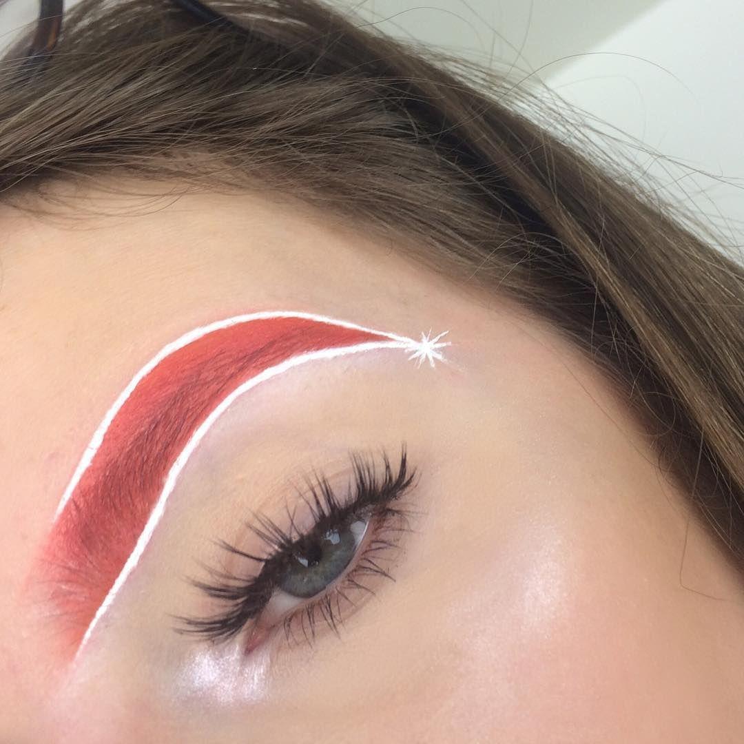 Брови Санты - безумная идея макияжа для любителей праздников - фото 358770