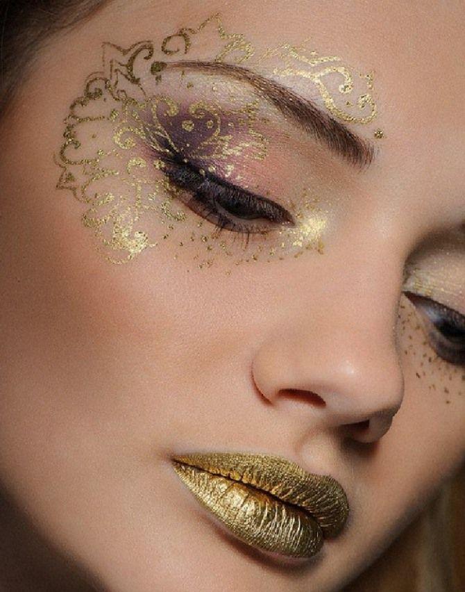 Изысканные идеи макияжа на Рождество, которые ты захочешь повторить - фото 361038