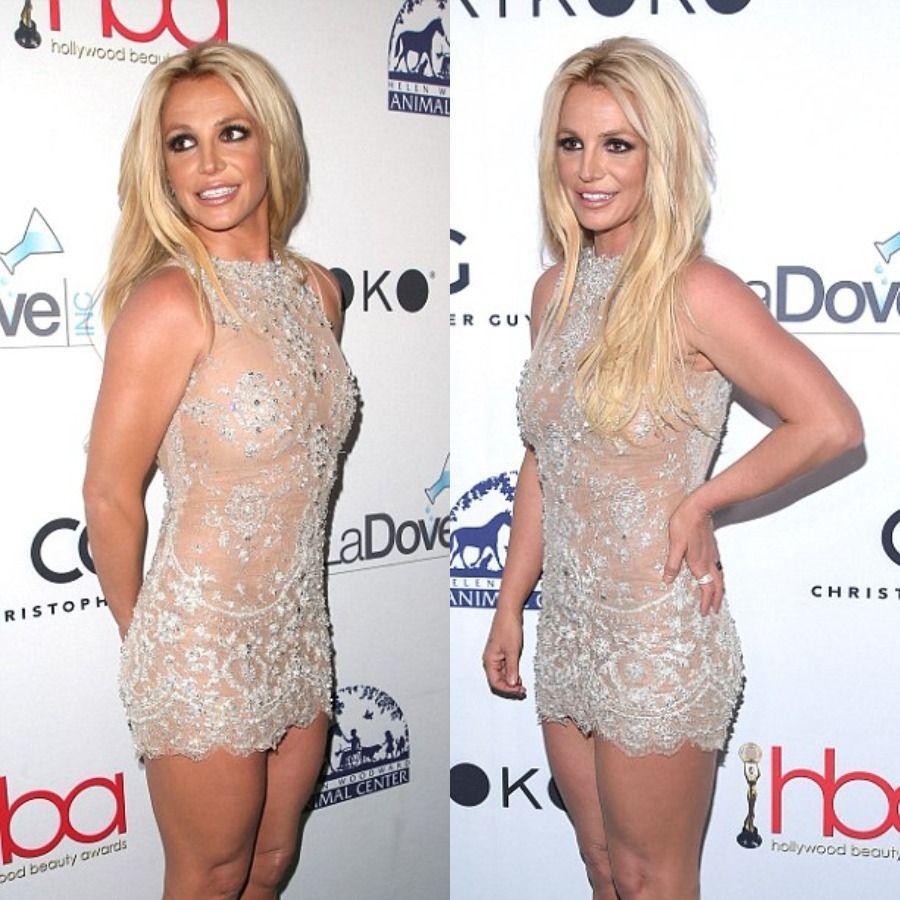 Бритни в мини: голливудскую певицу раскритиковали за слишком откровенное платье - фото 371782