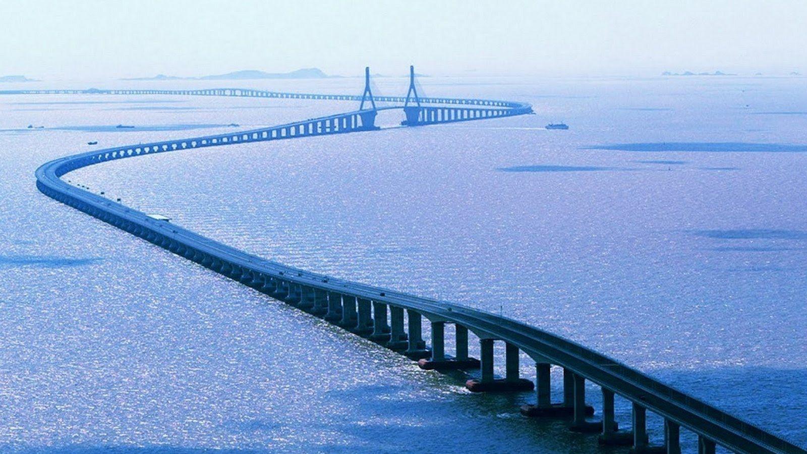 В Китае построили самый длинный мост в мире, и вот, как выглядит это чудо архитектуры - фото 371741