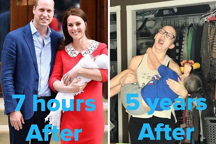 Пародии дня: женщины высмеяли идеальный вид Кейт Миддлтон после родов - фото 381677