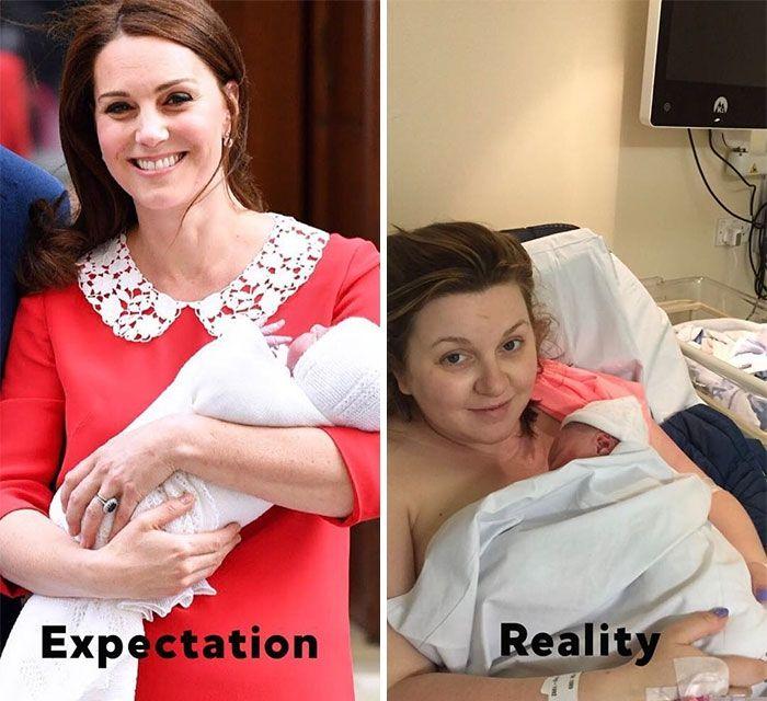 Пародии дня: женщины высмеяли идеальный вид Кейт Миддлтон после родов - фото 381676