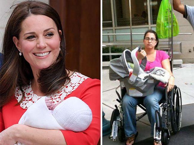 Пародии дня: женщины высмеяли идеальный вид Кейт Миддлтон после родов - фото 381683