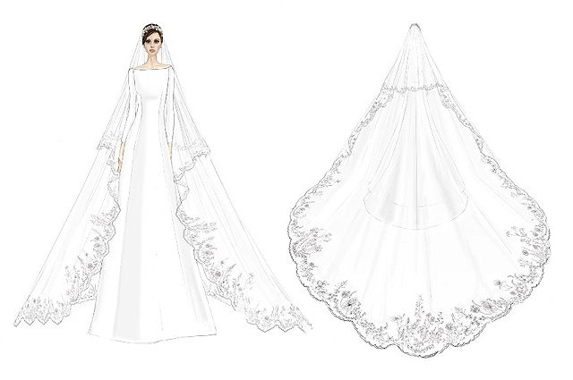 Модний дім Givenchy показав світу ескізи весільної сукні Меган Маркл ... 070c8b860a3ea