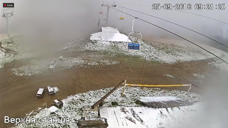Ну привіт, зима: у Карпатах випав перший сніг - фото 404987