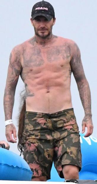 44-річний Девід Бекхем показав своє розкішне тіло, коли розважався з донечкою в аквапарку - фото 442382