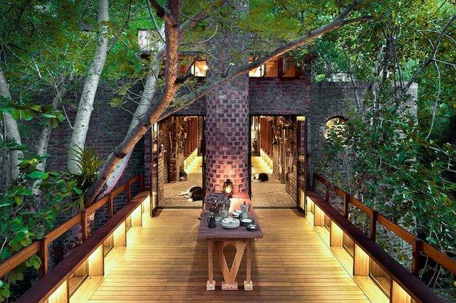 Ювелірно: у Африці звели надвузький будинок посеред лісу, аби не чіпати жодного дерева - фото 486572