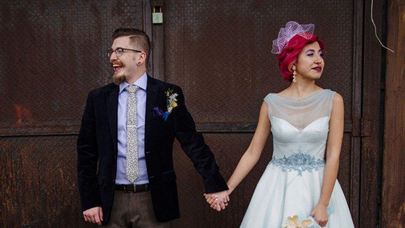 Фотографії неймовірно стильного весілля в дусі Pop-up - Люкс FM d4d4edfc34476