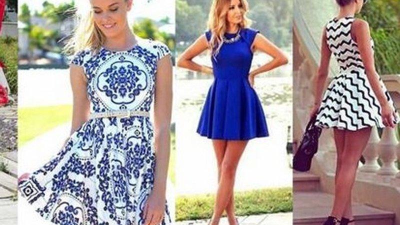 Платье модные короткие фото