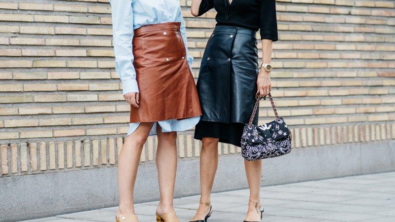 Модний street style 2018  з чим носити шкіряну спідницю у цьому сезоні 3cd20e3a1d0f1