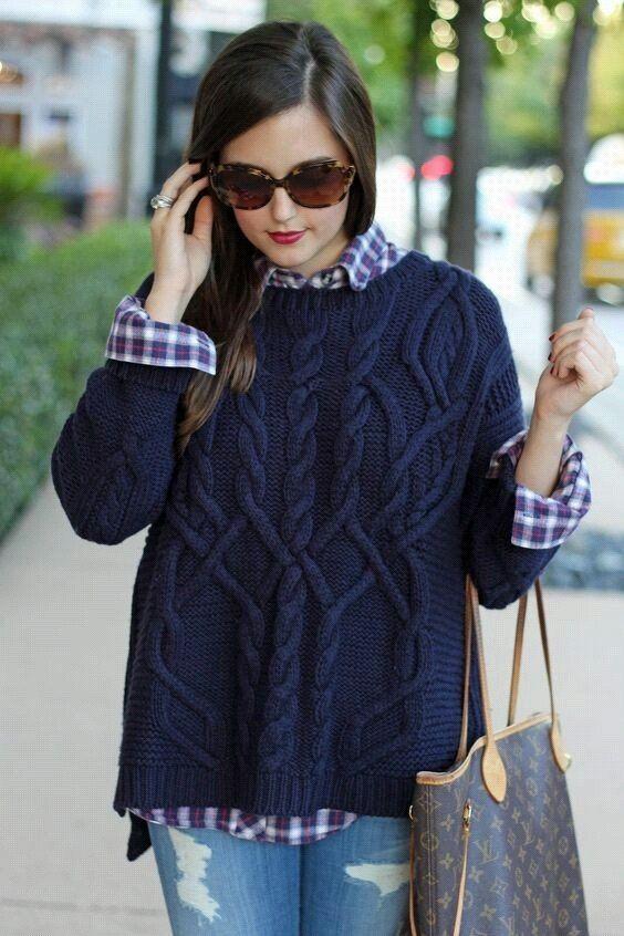 Модная вязаная одежда для женщин