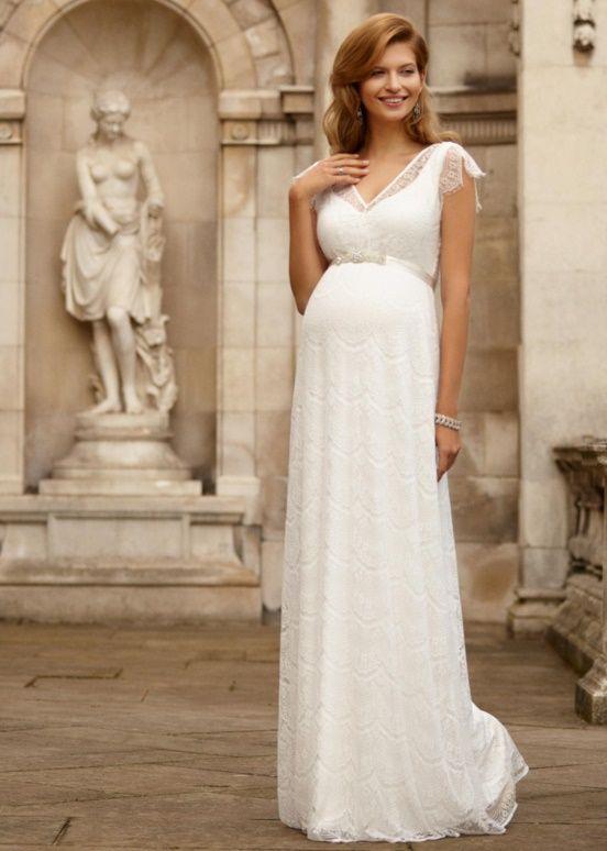 Весільні сукні для вагітних  топ найкращих фасонів - Люкс FM b08758507bd10