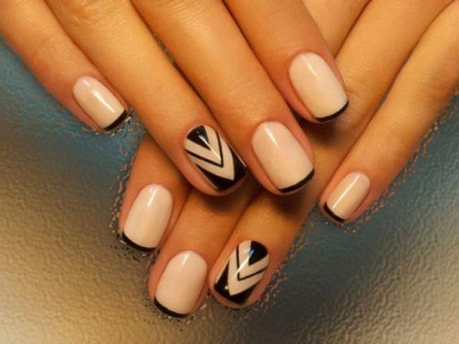 Дизайн гелевых ногтей коротких