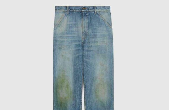Не все поймут: Gucci создал дорогущие джинсы с пятнами от травы - фото 491838