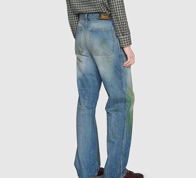 Не все поймут: Gucci создал дорогущие джинсы с пятнами от травы - фото 491841