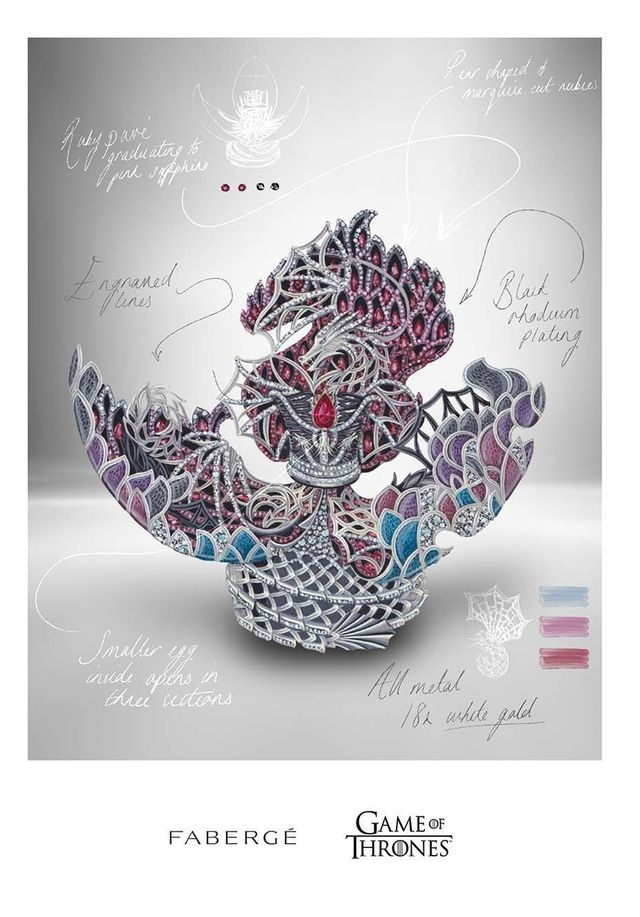 Легендарна компанія 'Фаберже' випустить яйце-дракона на честь 'Гри престолів' - фото 511449